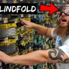Selecting Fishing Lures BLINDFOLDED Obstacle!!! (Amusing)