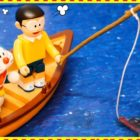 Doraemon vs Nobita Fishing in Sea – Amusing Video clip Cartoon Doremon in Hindi – Mini Toy  for child