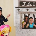 Jannie Faux Participate in w/ Humorous Jail &amp Skye Journey on Toys