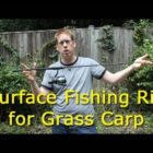 Surface area fishing rig for grass carp