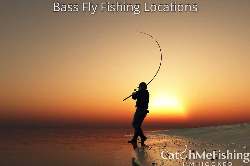 bass fishing from the shore and other locations