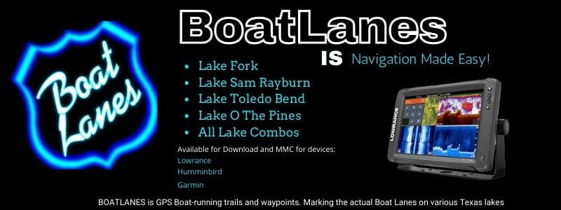Boatlanes Lake Fork gps map