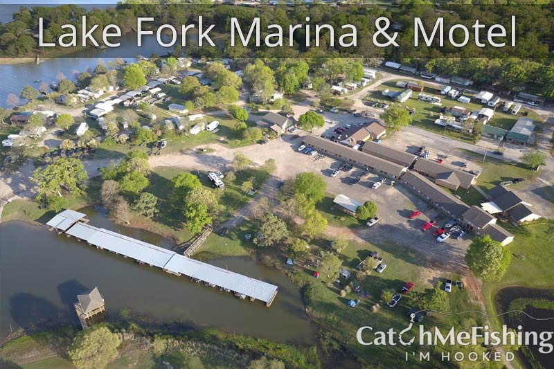 Lake Fork Marina and Motel Overhead view