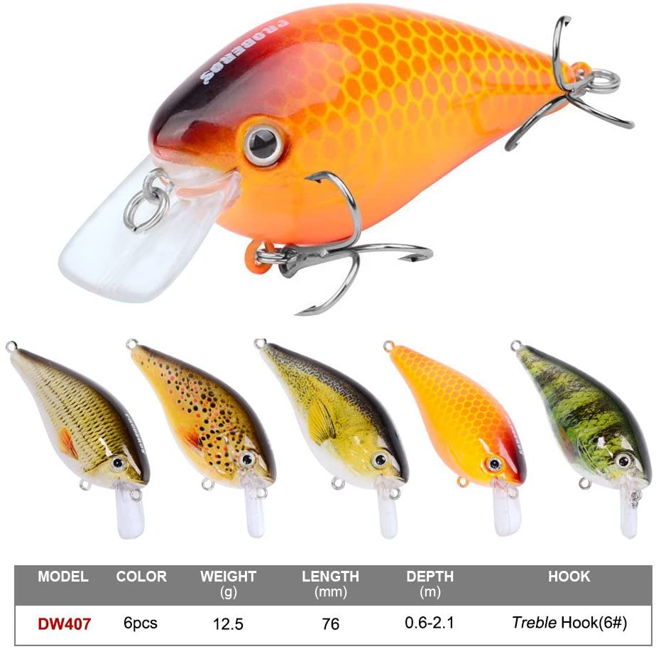 PROBEROS Crankbaits Set Fishing square bill Lure Hard Baits Swimbaits best crankbait