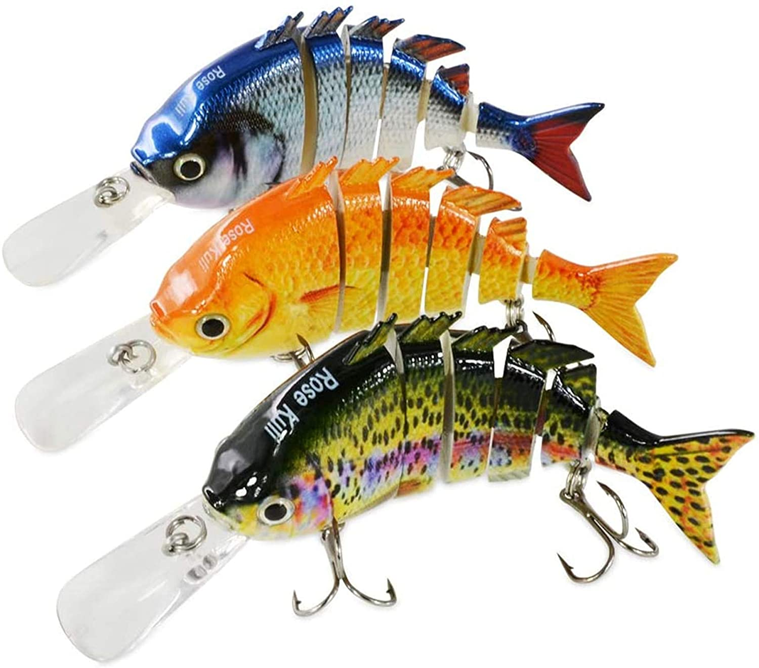 Rose Kuli Fishing Lures Lifelike Bass Lures Multi Jointed Swimbaits Slow Sinking Hard Bait best crankbait