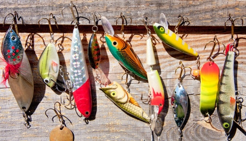 Types of bass fishing lures