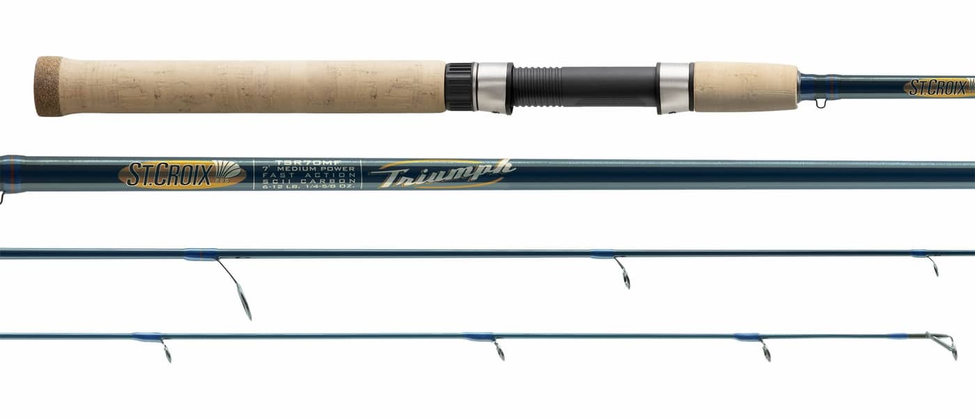 st croix triumph spinning rod review