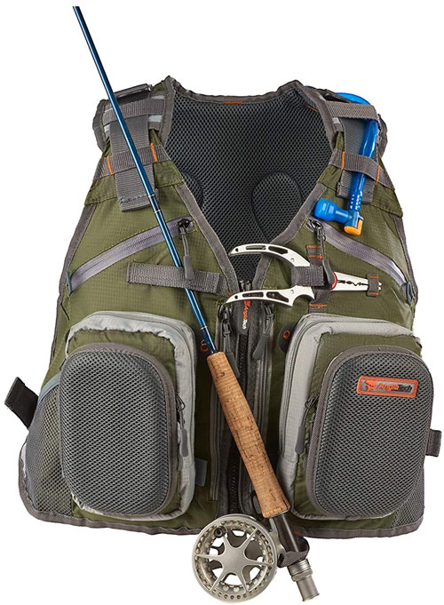 Anglatech Fly Fishing Backpack with Water Bladder Adjustable Best Fishing Backpacks