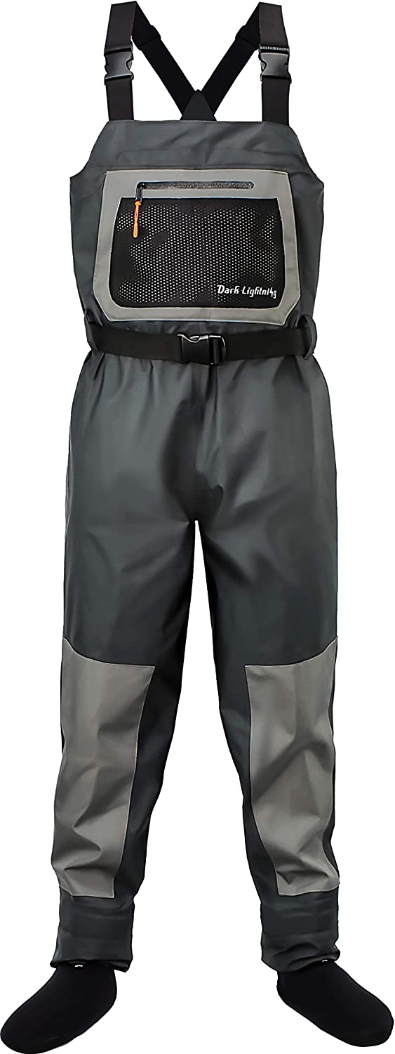 Dark Lightning Breathable Insulated Chest Waders Fly Fishing