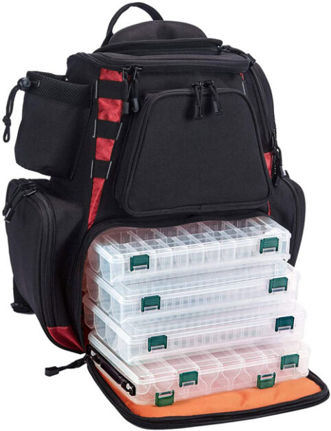 Piscifun Fishing Tackle Backpack 4 Trays Best Fishing Backpacks
