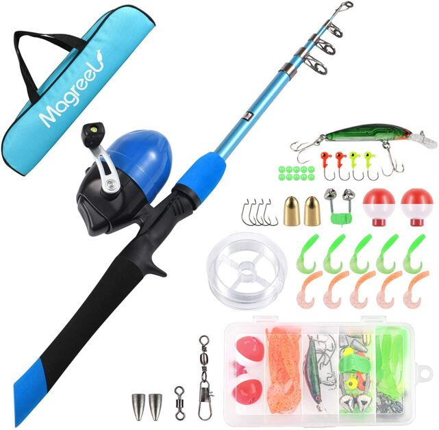 Magreel Kids Portable Telescopic Fishing Rod and Reel