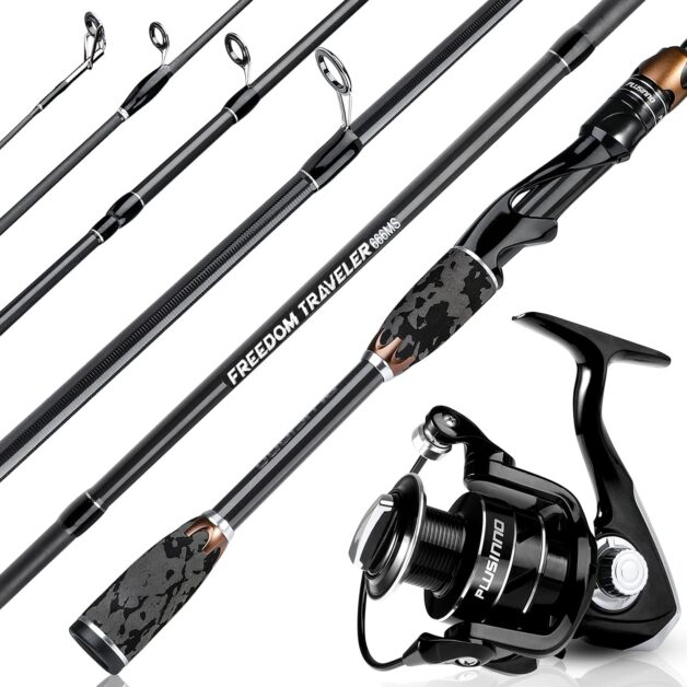 PLUSINNO Freedom Traveler Spinning Rod and Reel Combo